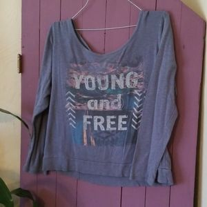 Young and free maurices crop top